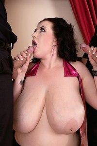 BBW Adult star Anna Beck takes on two studs at pornmegaload.com